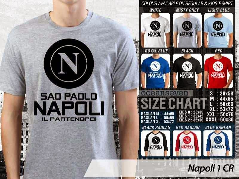 kaos bola bola Napoli 1 Lega Calcio distro ocean seven