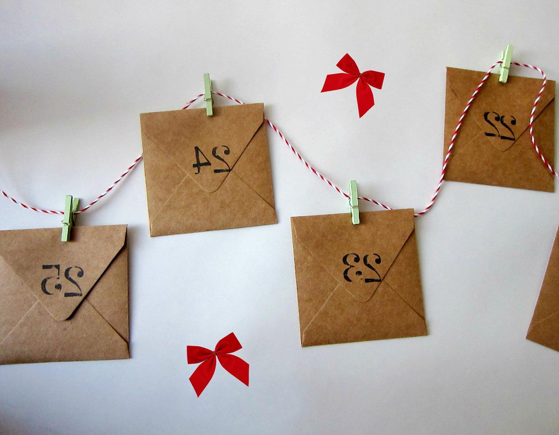 Mini envelopes advent calender