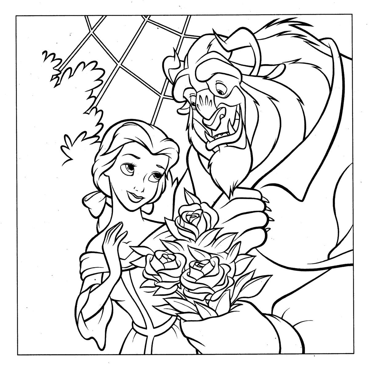 presents roses to Belle.
