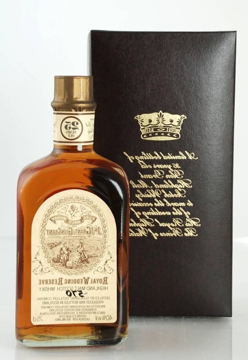 GLEN GRANT 25 YO 75 CL 40   ROYAL WEDDING RESERVE