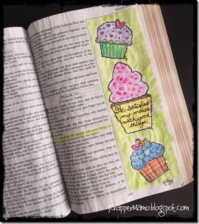 Ps 103-5 Bible Art Journaling
