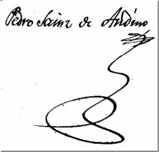 Firma Sainz de Andino