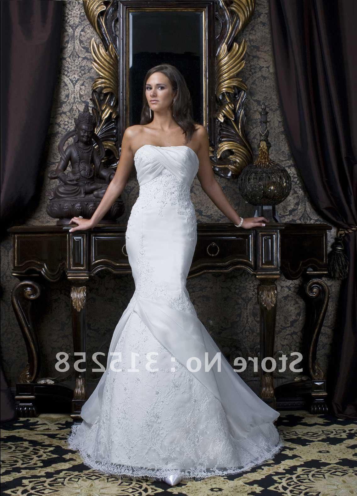 Wholesale Promotion New Fashion Trumpet Mermaid Bateau Lace Wedding Dresses