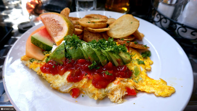 breakfast at Eggspectation near Nathan Phillips Square in Toronto in Toronto, Ontario, Canada