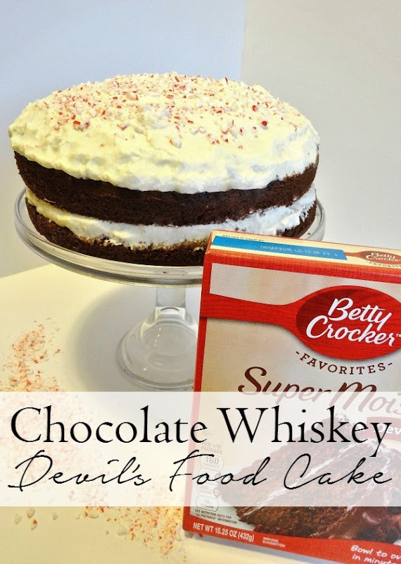 This is amazing Chocolate Whiskey Devil's Food Cake #WinCoCheer #ad
