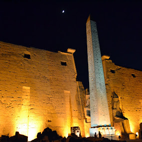 Beautiful Karnak by Mica Parada Larrosa - Buildings & Architecture Other Exteriors ( temple, luxor, obelisco, noche, night, templo, historical, egipto, karnak, egypt, ramses )