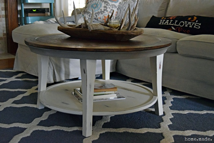 round distressed coffee table - starrkingschool