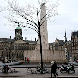 dam square downtown amsterdam in Amsterdam, Noord Holland, Netherlands
