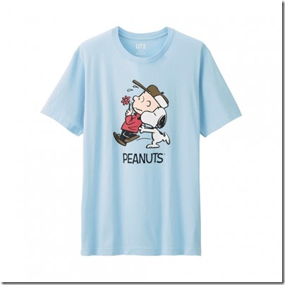 UNIQLO UT X Peanuts Movie Men Short Sleeve Graphic T-Shirt 14
