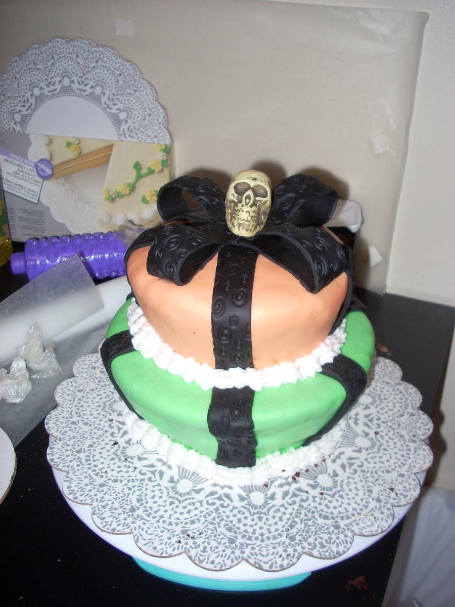 A Halloween Wedding Cake by