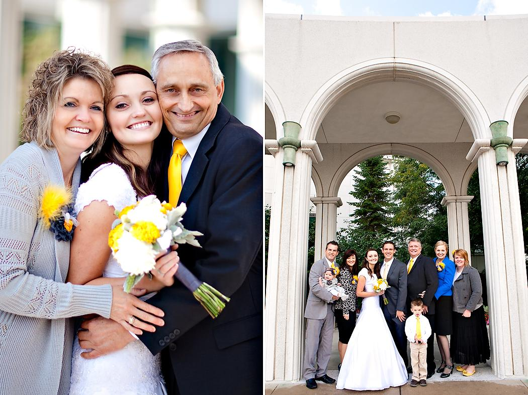 utah temple wedding