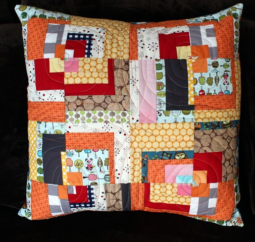 Modern Log Cabin PIllow
