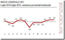 Indice generale NIC. Luglio 2015