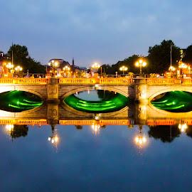 The Bridge by Jimmy Fitz - Buildings & Architecture Bridges & Suspended Structures ( skyline, ireland, o'connell bridge, dublin, cityscape, city,  )