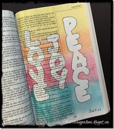 Bible Art Journaling Gal 5-22