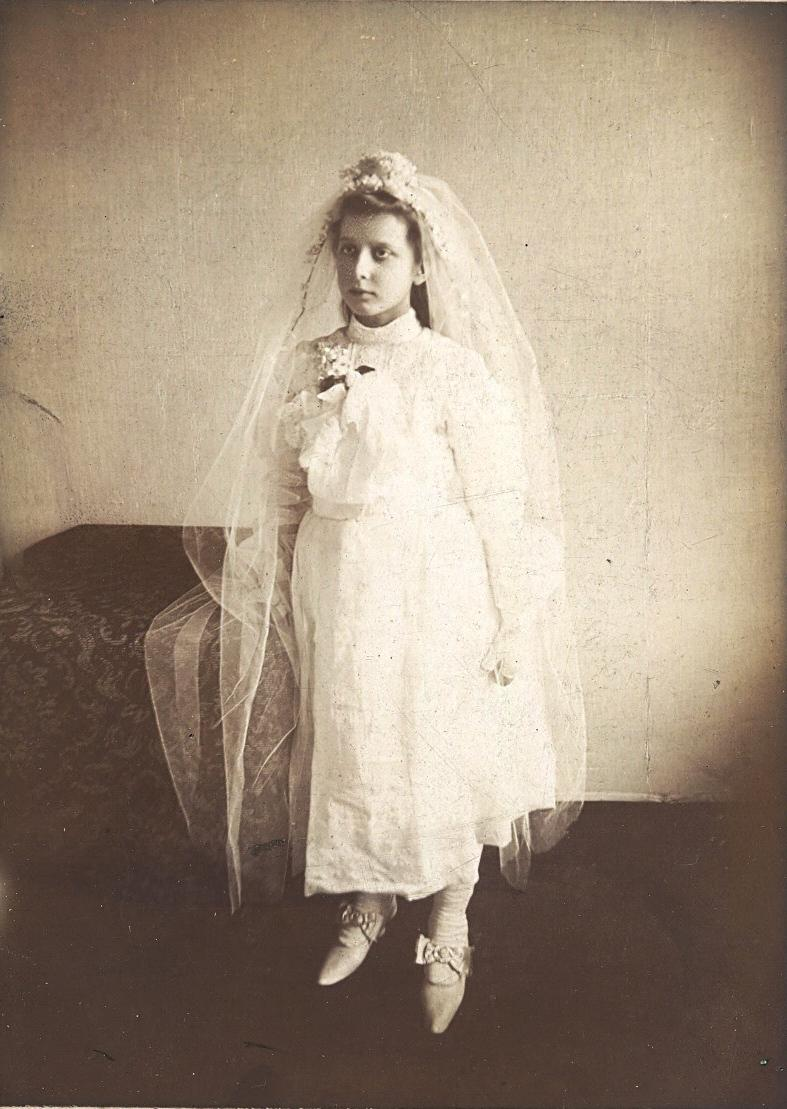 Woman in wedding dress,