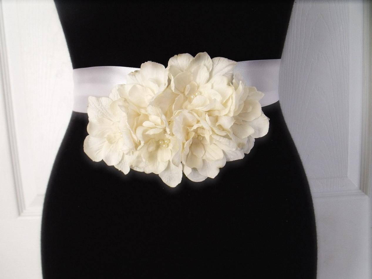 2014 absorbing abest selling designer v neck sash   ribbon empire wasit flower satin beach bridal gown   cheap wedding cream wedding dresses under $100