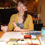 sushi with kyoko in Osaka, Osaka, Japan