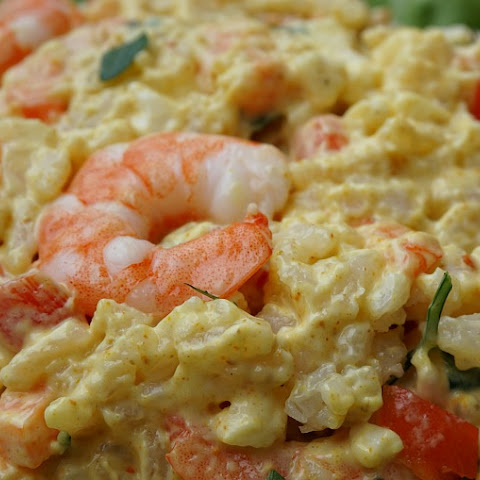 Cold Curried Rice and Shrimp Salad