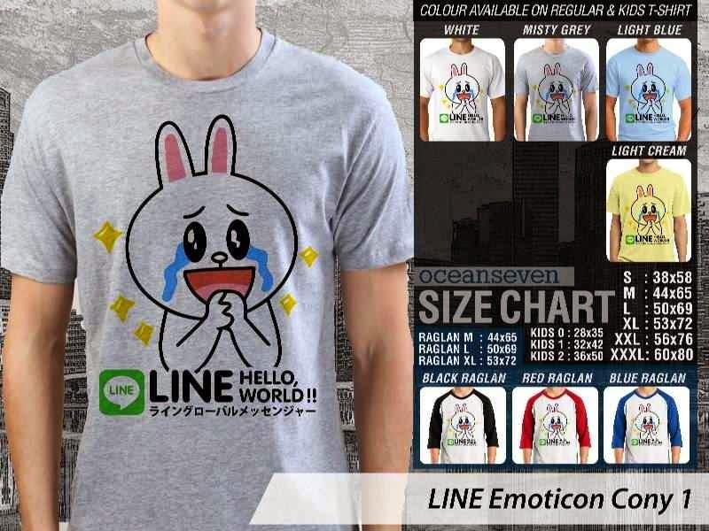 KAOS IT LINE Emoticon Cony 1 Social Media Chating distro ocean seven