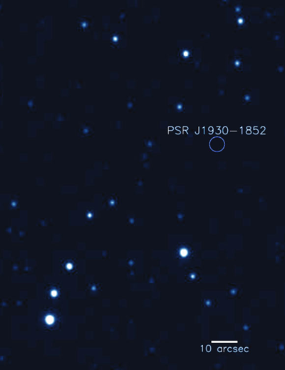 localização do pulsar PSR J1930-1852