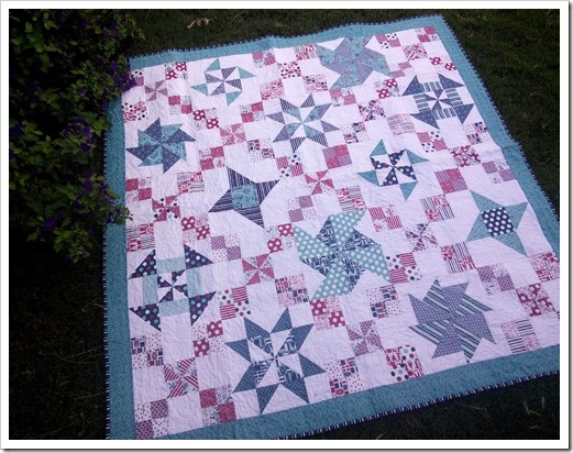 Bloc of the Month Pinwheel Quilt