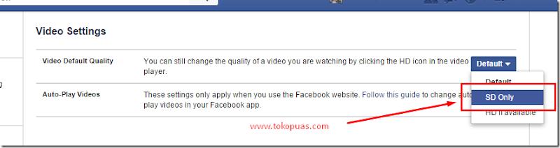 trik mematikan autoplay video status facebook