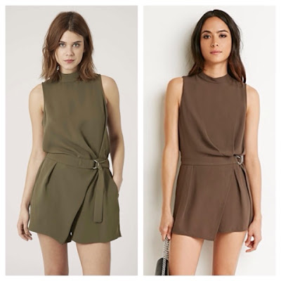 Topshop High Neck D Ring Playsuit vs Forever 21 Faux Wrap Romper