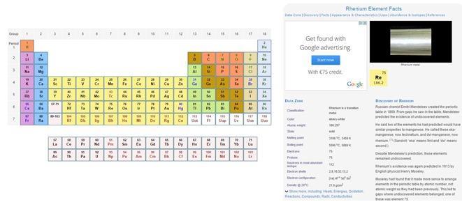 6 tavole periodiche degli elementi di mendeleev interattive per studenti di chimica idee per - Tavola periodica di mendeleev ...