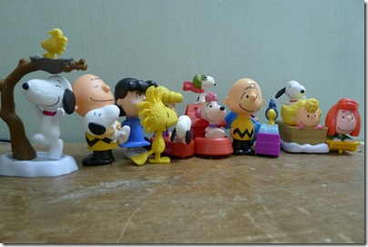 McDonald's happy meal X The Peanuts Movie 2015 toys