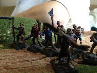 Zombies approaching slowly from the south