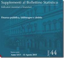 Supplemento al bollettino statistico. Agosto 2015