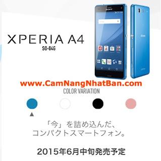 Điện thoại Nhật Bản Docomo 2015 XPERIA A4