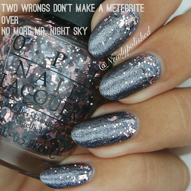 OPI No more mr night sky Two wrongs don't make a meteorite