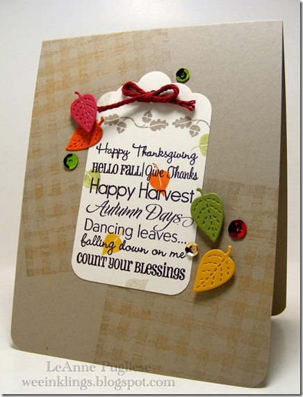 LeAnne Pugliese WeeInklings Autumn Sayings Tag Card