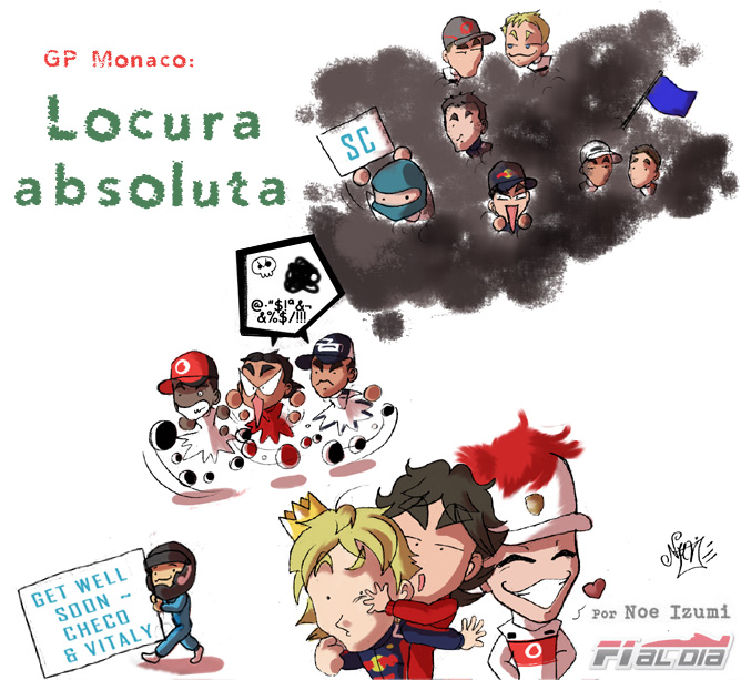Los Chibis 49 рисунок Noe Izumi по Гран-при Монако 2011