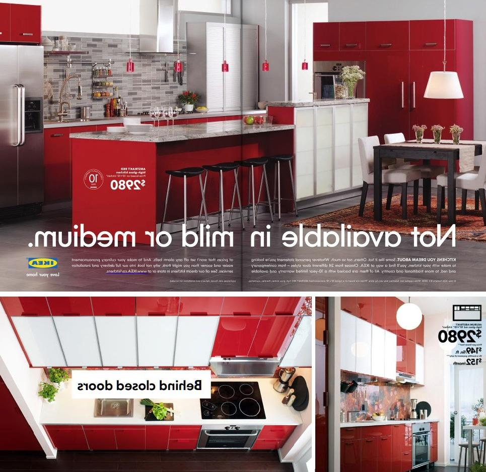 Ikea made the high-gloss red