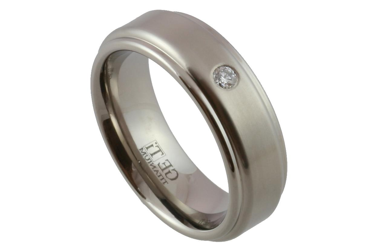 mens wedding rings one diamond