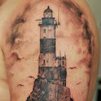 arm lighthouse - tattoos ideas