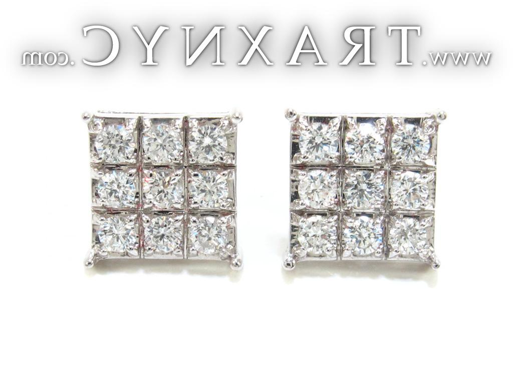 Full Size Picture for Mens Square Diamond Earrings 21409