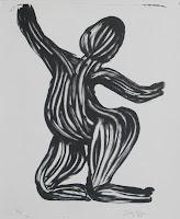 Dej BAO. 032 . Un Chemin dans la Pierre . 1977 .Lithographie . 36,5 x 32 cm