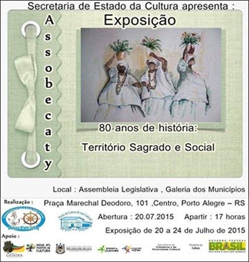 Exposição ASSOBECATY 80 Anos; Território Sagrado e Social