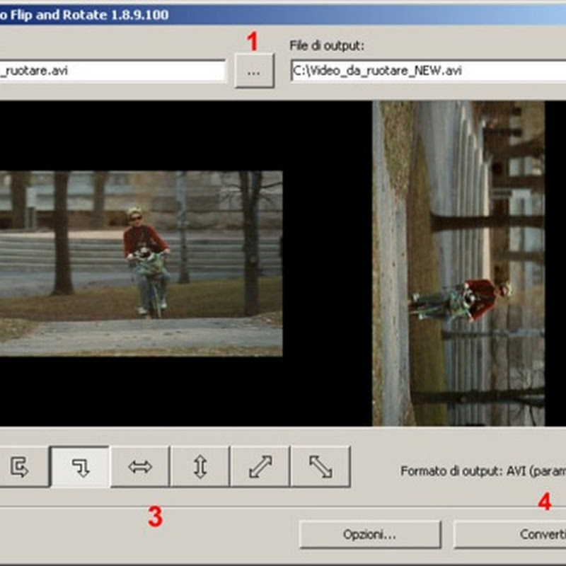 Come ruotare un video nella direzione corretta.