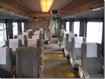 IMG_0700 Amtrak Cascades Talgo Pendular Series VI Coach Class Interior at Union Station in Portland, Oregon on May 10, 2008