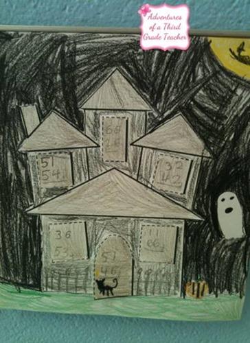 casa encantada halloween colorear