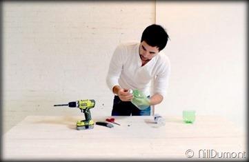 Criando luminária com Pet e cimento-05