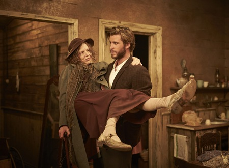 Judy Davis and Liam Hemsworth in The Dressmaker