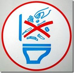 tampon toilet