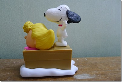 McDonald's happy meal X The Peanuts Movie 2015 toys: Sally and Snoopy