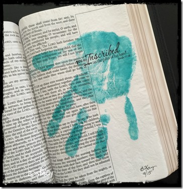 Bible Art Journaling Inscribed on His Palm